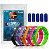 NextDia Shield Natural Anti Mosquito Repellent Bracelet - 5 Pack - Insect & Bug Band Safe for Kids & Adults Travel Size Outdoor Control a Must Have Camping Hiking Fishing Accessories