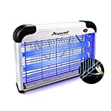 Aspectek Electronic Bug Zapper, Insect Killer - Mosquito, Fly, Moth Trap, Upgraded 20W Bulb for Residential & Commercial Indoor Use