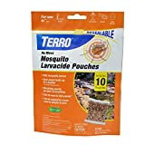 Terro T1210 No Mess Mosquito Larvacide Pouches - 10 Pouches Included